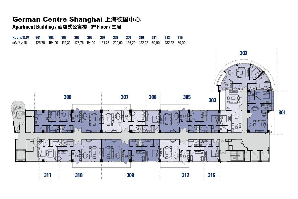 Apartment Building Architectural Plans floor plans of the german centre shanghai apartment building in pudong