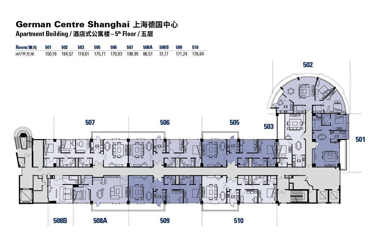 Apartmentgebäude - 5. Stock