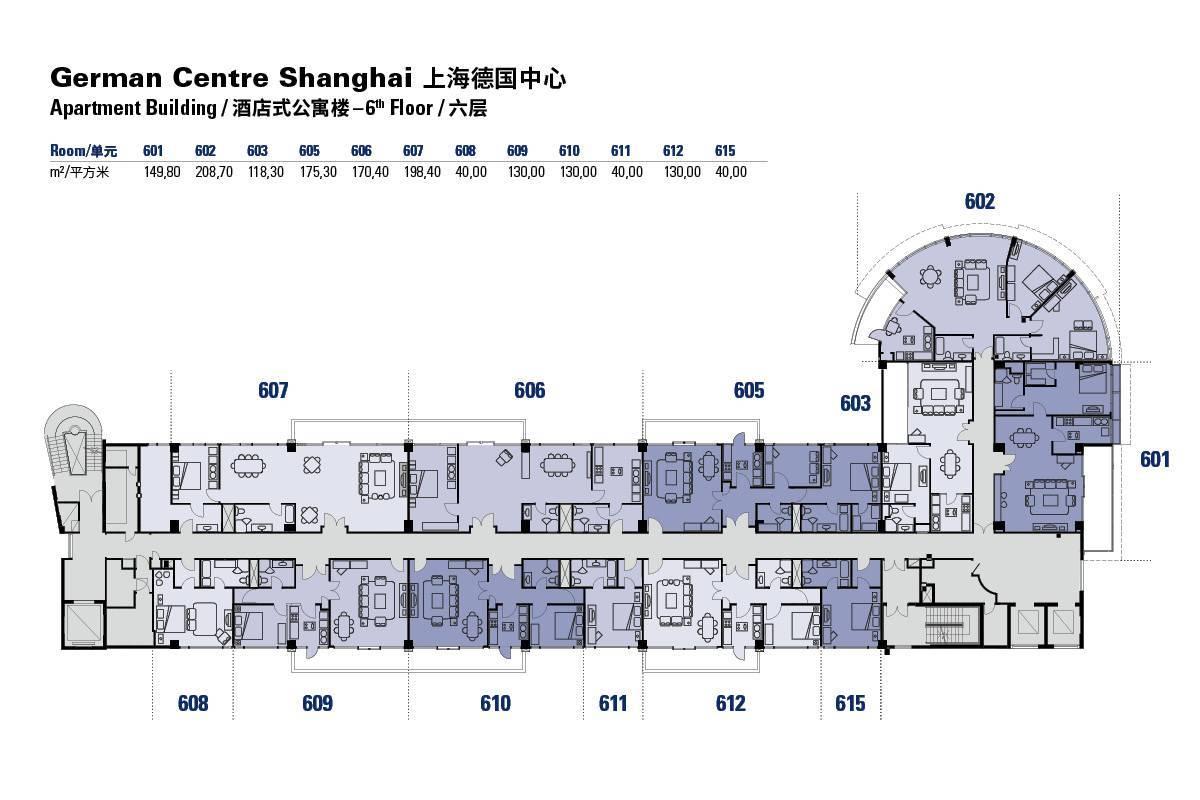 Apartmentgebäude - 6. Stock