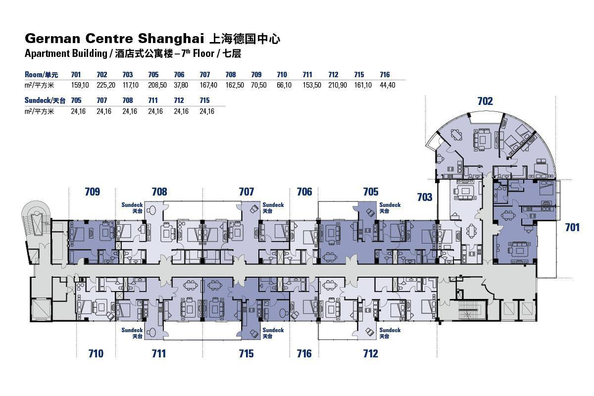 Floor plans of the german centre shanghai apartment for Appartment plans