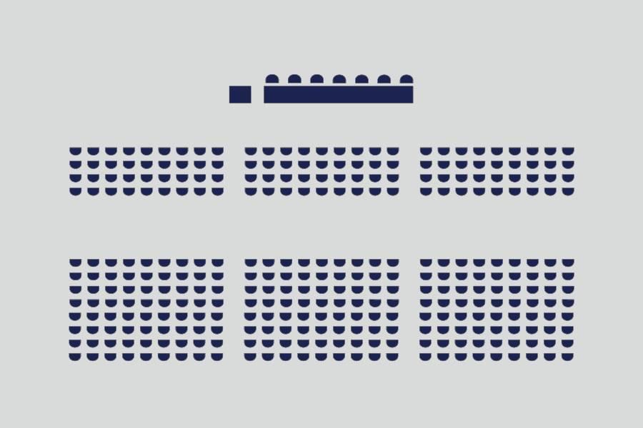 剧院式——约650人