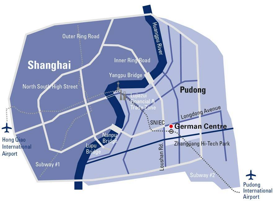 Route map German Centre Shanghai